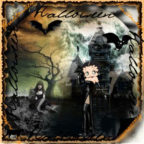gothic betty boop happy halloween picture