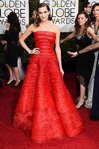 Allison Williams' Golden Globes 2015 Dress Is by Armani ...