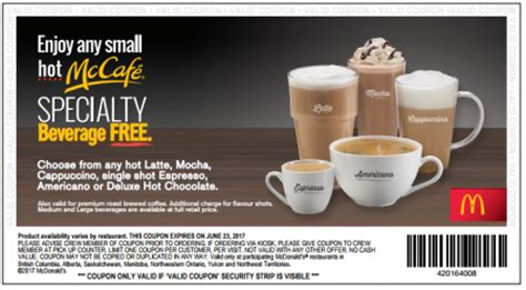The mcdonald's menu & prices page contains the latest mcdonald's menu, price list and pricing information for mcdonald's australia. FREE McDonalds Hot McCafe Specialty Beverage | Free Stuff Finder Canada