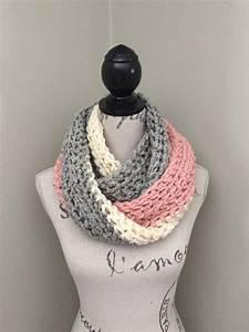 Handmade Crochet Infinity Scarf Yarn Is 100  Acrylic Color