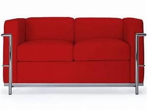 ml160 2p canape 2 places en cuir ou similicuir With canapé deux places rouge