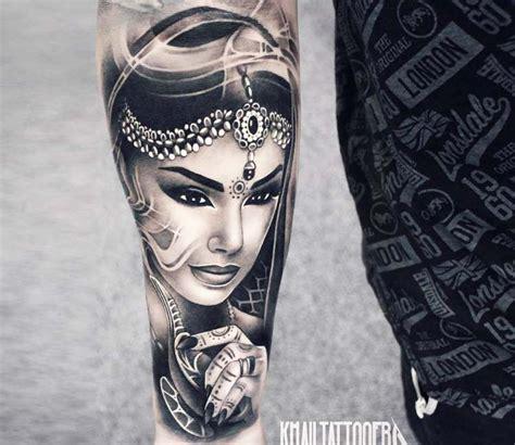 Interessante Ideenfarbiges Handtattoo by Genie And L By Khail Tattooer