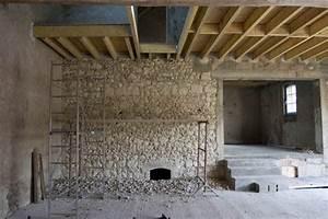 Mur En Moellon : piquage du moellon la suite la grange ~ Dallasstarsshop.com Idées de Décoration