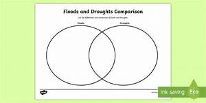 Floods And Droughts Comparison Worksheet    Activity Sheet