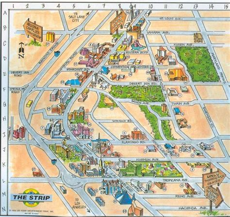las vegas strip map ideas  pinterest vegas