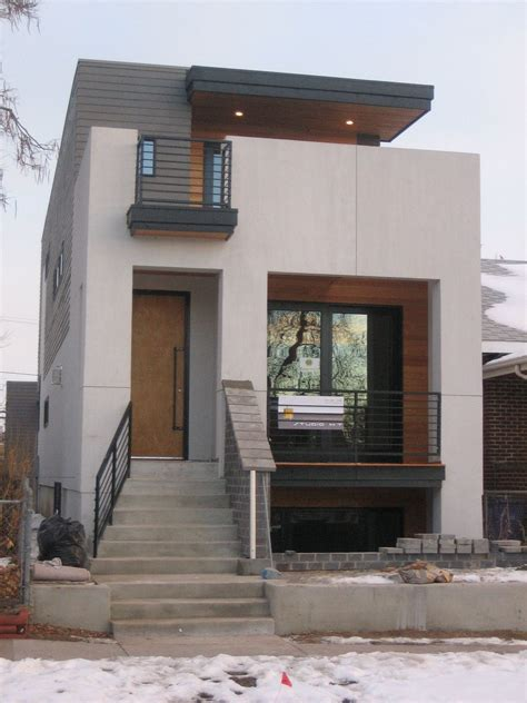 Home Architecture Small House Plans by Small Modern House Design With White Walol Using Large
