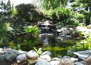 Jardin Avec Bassin : bassin poisson avec cascade ~ Melissatoandfro.com Idées de Décoration