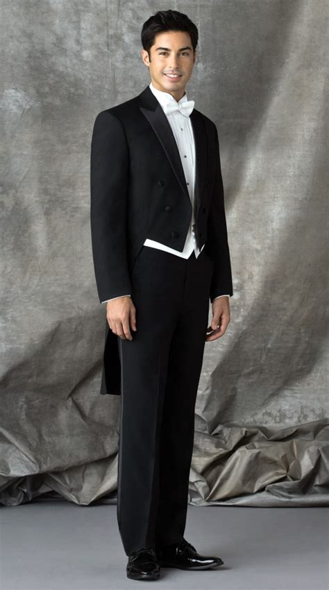 black tails tuxedo    formal dimensions