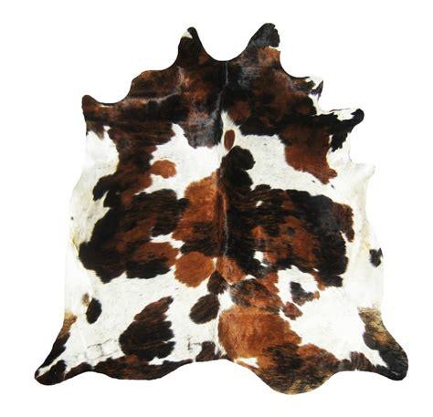 animal hide rugs tri color cowhide