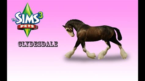 The Sims 3 Divano Ad Angolo : Creating A Clydesdale! /the Sims 3