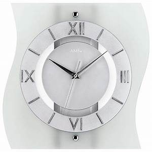 Horloge Moderne Murale : horloge murale moderne radio pilot e courb e en verre la maison de la pendule ~ Teatrodelosmanantiales.com Idées de Décoration