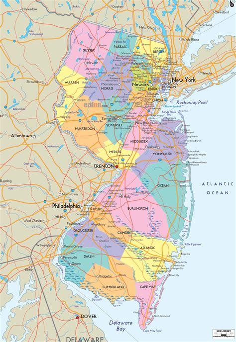 political map   jersey ezilon maps