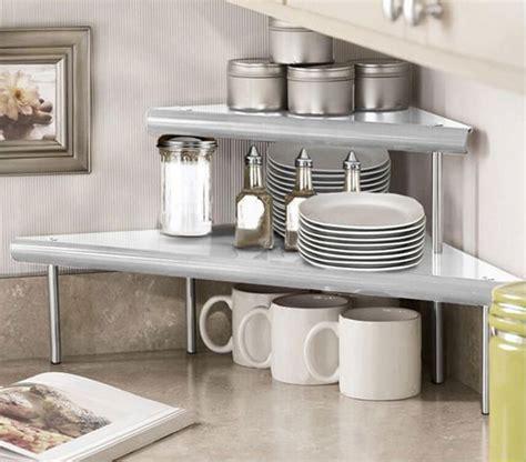 mugs  plates kitchen corner countertop organizers