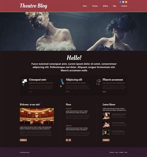 theatre responsive website template theater responsive website template 52512