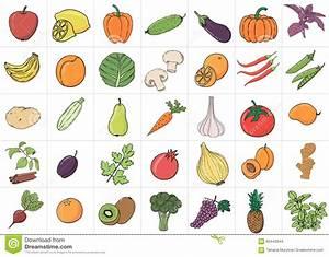 Obst Mit L : hand gezeichnete gekritzel obst und gem se mit namen stock abbildung illustration von nett ~ Buech-reservation.com Haus und Dekorationen
