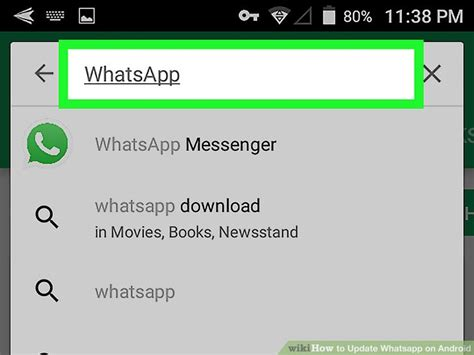 how to update whatsapp android 4 steps with