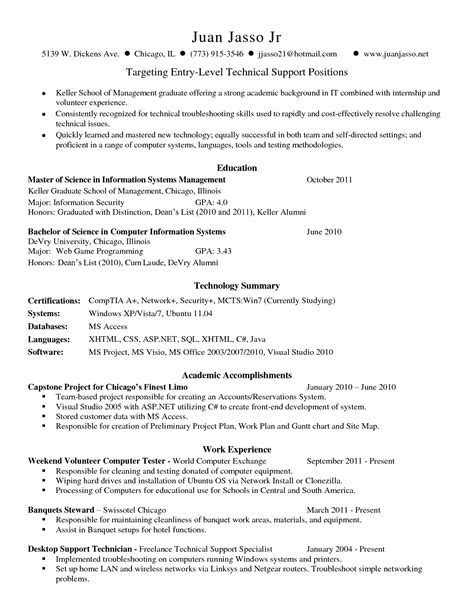 Technology Skills On Resume by Resume Resume Exles Technical Skills Section Resume