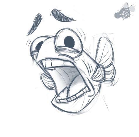 scared fish doodle  spodness  deviantart sketch
