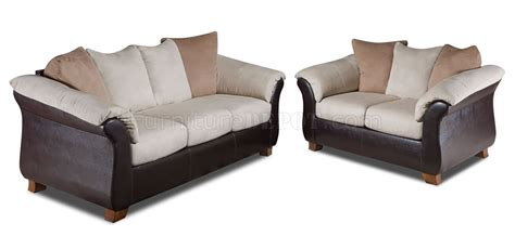 Sofa Loveseat Combo by Combo Microfiber Sofa Loveseat Set W Bonded Leather