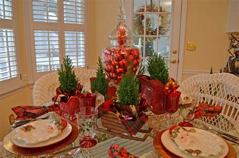 Santa Themed Tablescape With Santa Plates And A Sleigh Led Living Room Lamps Wall Hanging Ideas For Best Track Lighting Tuscany Furniture Contemporary Curtain Design Pictures Black Accent Chairs Marble Table Set