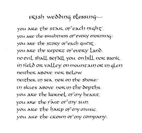 irish wedding blessing original calligraphy art