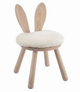 Chaise Bois Enfant : chaise enfant en bois oreilles de lapin ~ Teatrodelosmanantiales.com Idées de Décoration