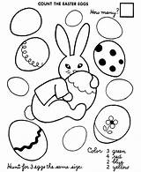 Easter Coloring Egg Eggs Printable Printables Numbers Sheets Autism Colour Count Activity Sheet Worksheets Activities Preschool Counting Ribbon Hard Fb sketch template