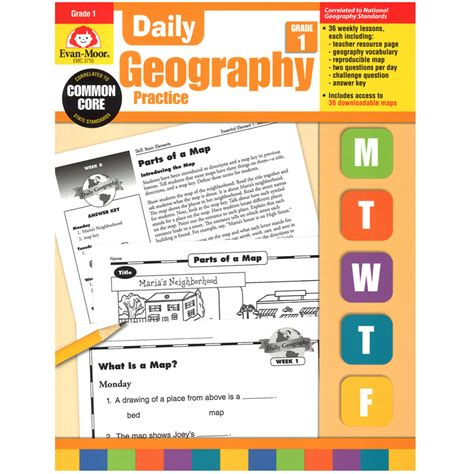 Daily Geography Practice Gr 1  Geography Emc3710