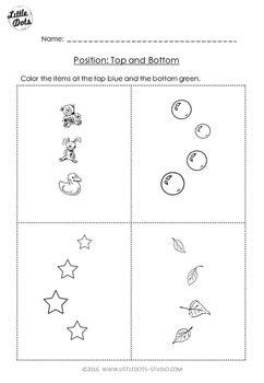 pre  math spatial concepts worksheets   dots tpt