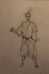 Samurai, Ronin, Mask, Warrior, Pencil Drawing by Lyathern ...