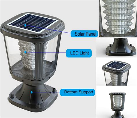high lumens solar post garden light with pir sensor for