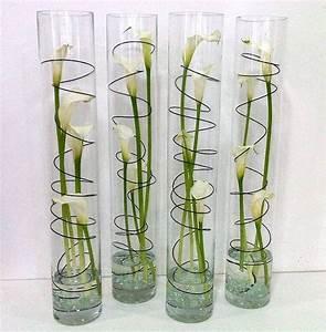 Einzelne Blume Vase : modern calla lily cylinder vase calla lilies events and modern ~ Indierocktalk.com Haus und Dekorationen