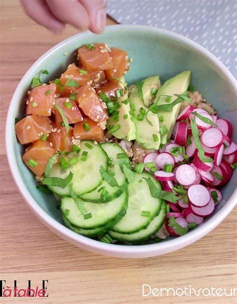 recettes de cuisine fr3 poke bowl saumon avocat pour 1 personne recettes à table