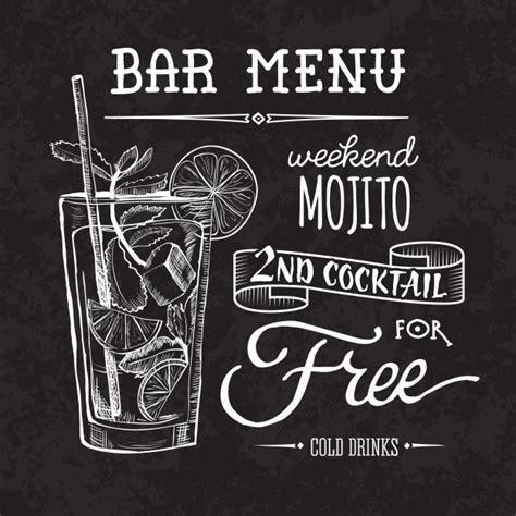 bebida ephotoshop template can soda bar menu poster on chalk board vector premium download