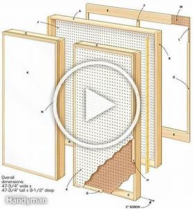 Figure A  Follow This Diagram To Build A Pegboard Wall