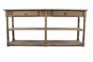 Meuble De Drapier : meuble console drapier bois 2 tiroirs 190x54x87cm ~ Teatrodelosmanantiales.com Idées de Décoration
