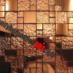 glass mosaic kitchen backsplash 1sf copper metal pattern textured glass mosaic tile for kitchen backsplash wall ebay