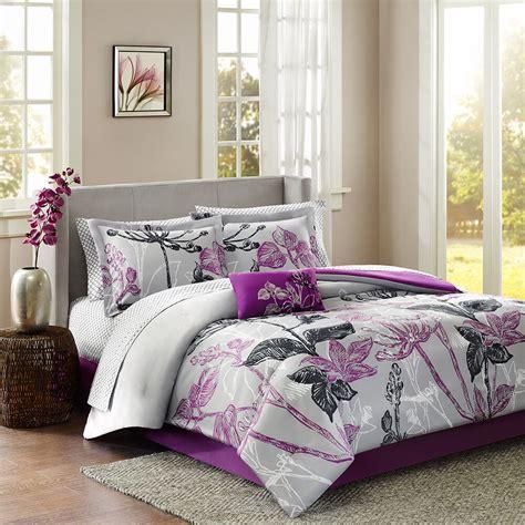 beautiful pc modern purple black grey white floral leaf