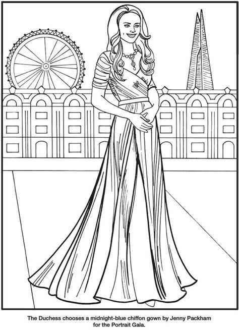 kate  duchess  cambridge royal fashions coloring