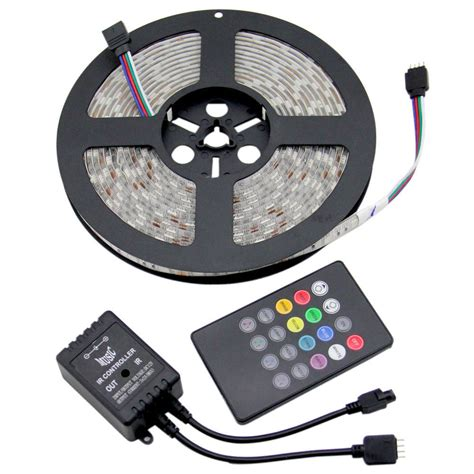 5 100m 5050 rgb led light dimmable sound activated