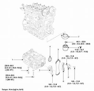 Hyundai Santa Fe  Balance Shaft  U0026 Oil Pump  Components And
