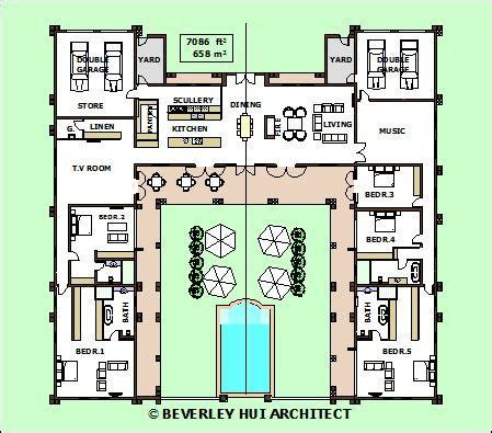 style home plans with courtyard image result for u shaped house plans architecture