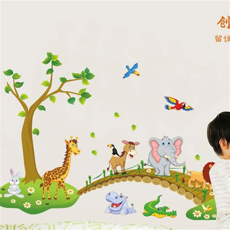 Animal Wallpaper For Children S Bedroom - nursery wall stickers baby room decals autos post