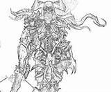 Demon Hunter Printable Coloring Pages Diablo Female Template sketch template