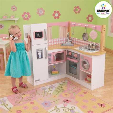 kitchen play set walmart kidkraft grand gourmet corner kitchen play set walmart