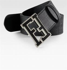 Fendi Zucca College Belt in Black for Men | Lyst