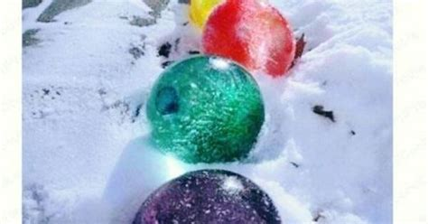 winter fill balloons  water  add food