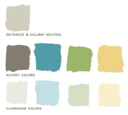 preschool paint color palette created for a client who