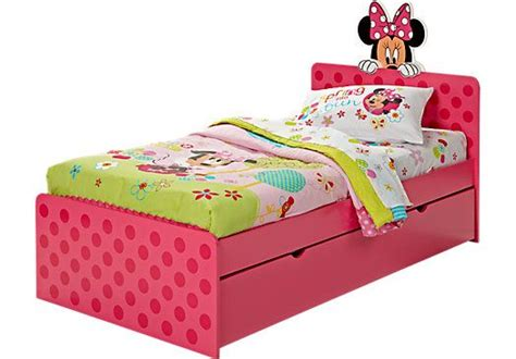 Minnie Mouse 4 Pc Twin Bed W/ Trundle