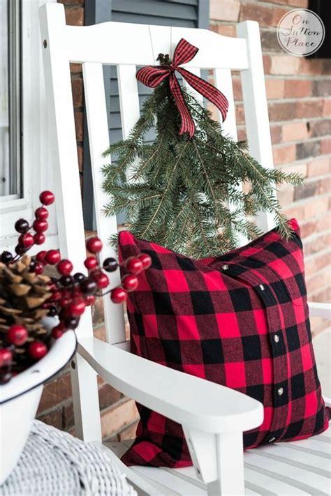 festive frugal christmas porch decor pinterest